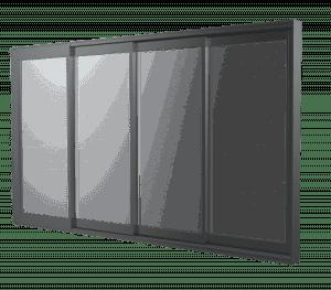 וילונות זכוכית הזזה -דלתות זכויכת