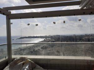 סגירת מרפסת וילונות זכוכית מתקפלים