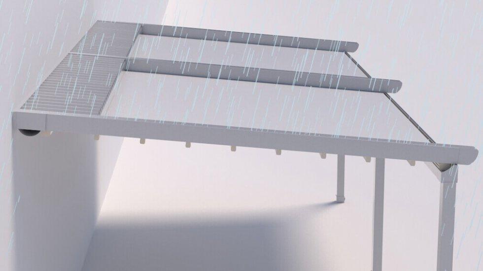 פרגולה חשמלית אטומה למים